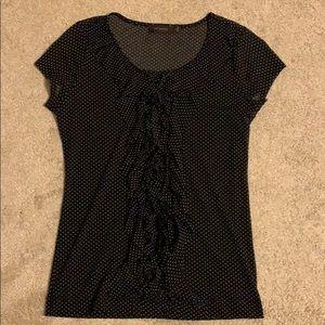 The Limited Sheer Polka Dot Dress Shirt